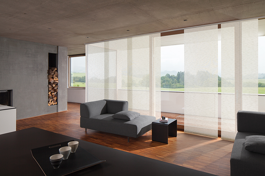 mhz flaechenvorhang bild 02 moser wohnbedarf. Black Bedroom Furniture Sets. Home Design Ideas